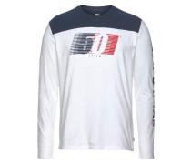 Langarmshirt navy / rot / weiß