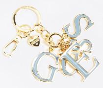 Schlüsselanhänger opal / gold
