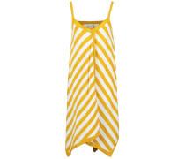 Kleid goldgelb / weiß