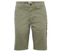 Shorts khaki / rot / schwarz