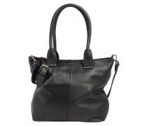 Handtasche 'Flaps' schwarz