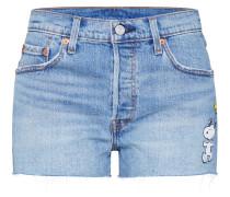 Jeans '501 Short Peanut' blau