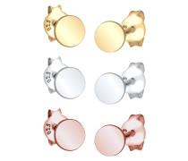 Ohrringe 'Kreis' gold / rosegold / silber