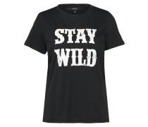 Shirt 'wild' schwarz / weiß