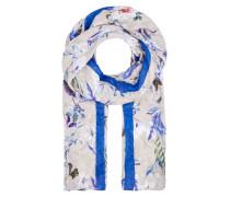 Schal mit Exotic-Print und Streifen mischfarben