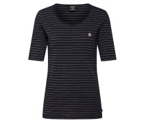 T-Shirts navy / silber