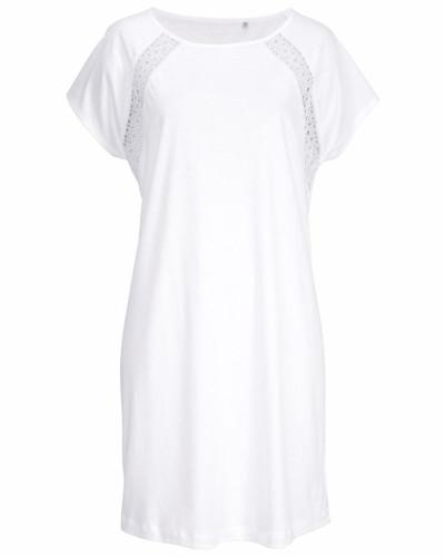 Sleepshirt mit Spitzeneinsätzen in Häkeloptik