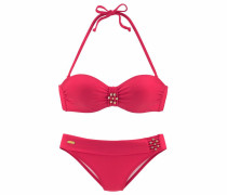 Bügel-Bandeau-Bikini rot