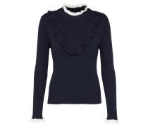 Pullover 'ruffle' nachtblau