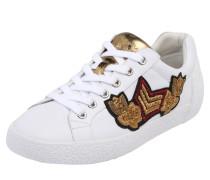 Sneaker 'nak Arms' aus Nappaleder gold / weiß
