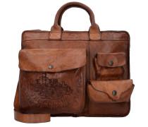 Traditional Carvi Businesstasche Leder 37 cm