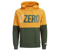 Sweatshirt grün / orange
