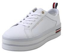 Sneaker weiß / dunkelblau / rot