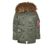 Parka oliv / orange