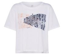 Shirt navy / rosa / weiß