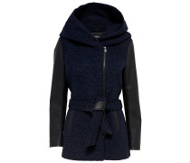 Mantel nachtblau / schwarz