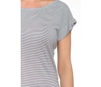 Shirt 'Beach' dunkelgrau / weiß