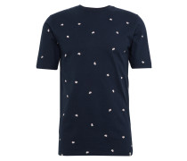 T-Shirt 'canten 3147' navy / weiß