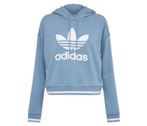 Sweatshirt rauchblau / weiß