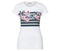 Shirt 'moda' mischfarben / weiß