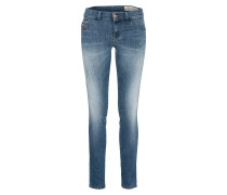 Mid waist 'livier-S' 0687L blue denim