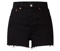 Shorts 'ribcage' black denim