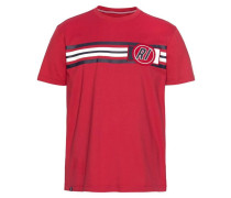 Shirt nachtblau / rot / weiß