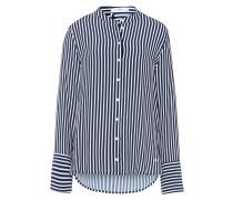 Bluse 'Val' dunkelblau / weiß