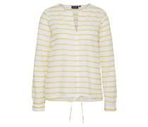 Bluse 'clely' gelb / weiß