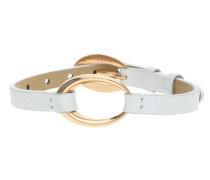 Armband 'White Rose' gold / weiß