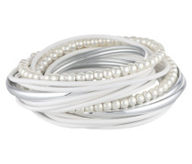 Armband 'Torence' silber / weiß