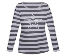 Shirt grau / graumeliert / weiß