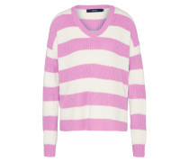 Pullover 'sibbo Stripe' lila / weiß