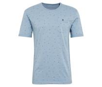 T-Shirt hellblau / dunkelblau