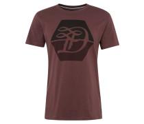 T-Shirt 'Logo D' weinrot