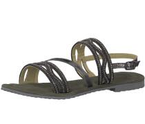 Sandale 'Strappy Sandale' schwarz