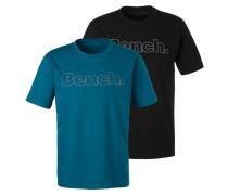 Shirt petrol / schwarz