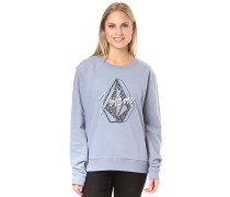 Fleece Sweatshirt 'Sound Check' rauchblau
