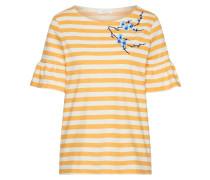 T-Shirt goldgelb / weiß
