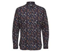 Blumenprint Langarmhemd