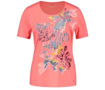 T-Shirt 'Summer' mischfarben / koralle