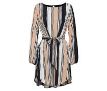 Kleid puder / schwarz / weiß