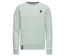 Sweatshirt 'Meidericher' mint / weiß