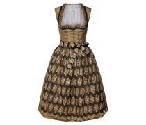 Kleid 'Dirndl' gold / schwarz