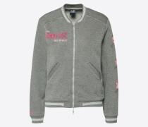 Sweatjacke grau / pink