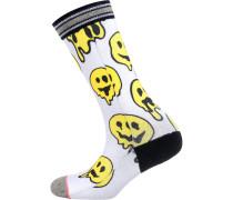 Socken gelb / schwarz / weiß