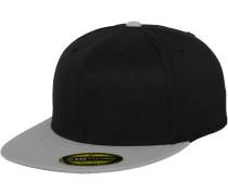 Cap 'Premium 210 Fitted' grau / schwarz