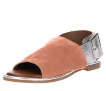 Sandalen mit breiten Riemen rosé / silber