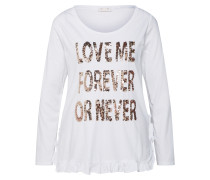 Shirt 'Longsleeve' weiß