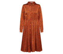 Kleid rostrot / schwarz